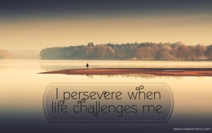 I persevere when life challenges me